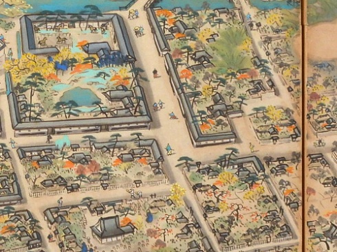 熊本城下町並図屛風LevR190G180B160trim_500pxl